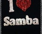 Camisa BORDADA I LOVE SAMBA