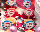 Topper Mini Cupcake (Monster High)