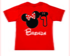 Camiseta vermelha da Minnie