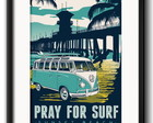 Quadro Pray for Surf Kombi com Paspatur