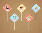 Picnic - Toppers Tags Scrap