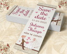 Marcador De Livro Save The Date - 00017