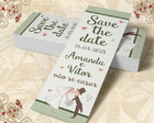 Marcador De Livro Save The Date - 00016