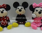 APLIQUE DE BISCUIT DA MINNIE E MICKEY