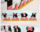 Letras Decorativas / Tema Minnie (MDF - com base)