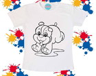 Camiseta-Cachorrinho Colorir
