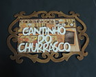 Placa Cantinho do Churrasco