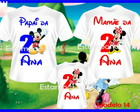 Kit Camisetas da Minei e Mickey