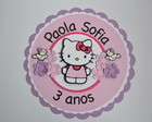Placa nome - Hello Kitty