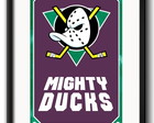 Quadro Mighty Ducks com Paspatur