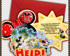 Convite Disney Mickey e Minnie Beach