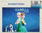 Painel FROZEN FEVER Impresso LUXO