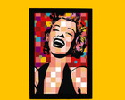 QUADRINHO POP ART MARILYN M- COD-QF0087