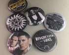 Kit 6 Bottons/Broches Supernatural