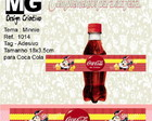 Ref.1014-Tag p/Coca Cola Minnie 18x3,5cm