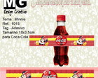 Ref.1015-Tag p/Coca Cola Minnie 18x3,5cm