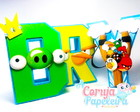 Letras 3D Angry Birds