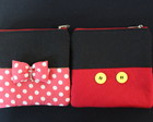 Porta Absorvente Mickey e Minnie