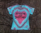 Babylook skate and destroy com tie dye