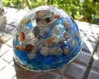 Orgonite de Cristais Dome Azul