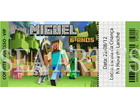 Arte Convite Digital - Minecraft