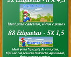 KIT ETIQUETA ESCOLAR - MARIO BROS