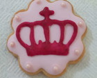 Cookie decorado - coroa de princesa