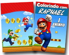 Revista de Colorir Super Mario 14x10