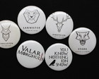 Kit 6 Bottons / Broches Game of Thrones