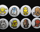 Kit 8 Bottons / Broches Star Wars