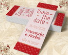 Marcador de Livro Save The Date - 00018