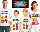 Kit 4 Camisetas Super Mario Bros A1