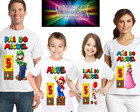 Kit 4 Camisetas Super Mario Bros A2