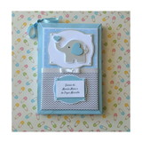 Elefantinho papelaria scrapbook baby decor Amor no Papel