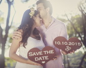 placas save the date rústico mod