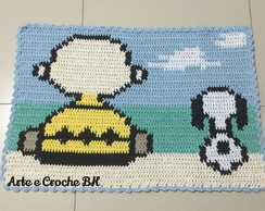 Tapete Croche Snoopy e Charlie Brown