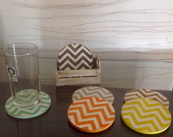 Porta copos decorado - Chevron