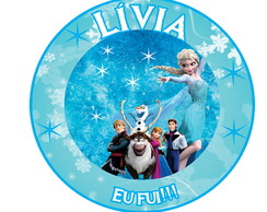Rotulo digital latinha - Frozen