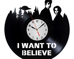 Relógio Vinil X Files - I Want Believe