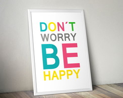 Poster Don't worry be happy 30X40