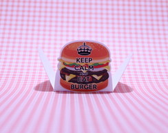 Forminha p/ doce- keep calm - hamburguer