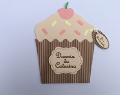 Convite Doces - Cup Cake
