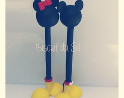Caneta decorada Mickey ou Minnie
