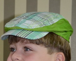 3243ab236d91b Boina Italiana Infantil Xadrez Verde no Elo7