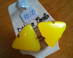 Binco Triangular Amarelo Neon