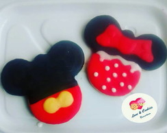 Biscoito decorado Mickey e Minnie