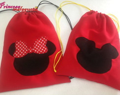 Mochila Colorida Mickey e Minnie