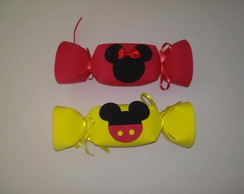 Mini bombom de e.v.a mickey e minnie