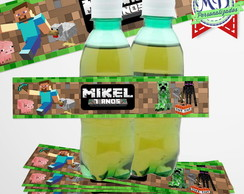 Rótulo Guaraná Minecraft