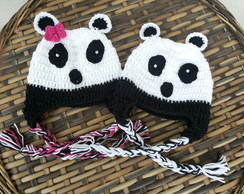 Touca de croche do panda